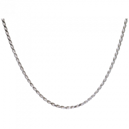 "Sterling Silver 18"" Rope Chain with Clasp"