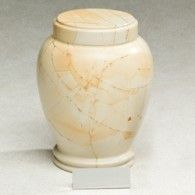 Zhou Teak Wood Marble Adult Cremation Urn
