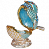 Sky Blue and Gold Bird Keepsake Urn