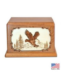 Dignified Eagle Inlay Companion Urn 400 Cu In