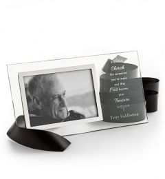 Personalized Memorial Glass Picture Frame