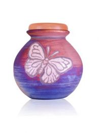 The Butterfly Raku Ceramic Cremation Urn  200 Cu. In