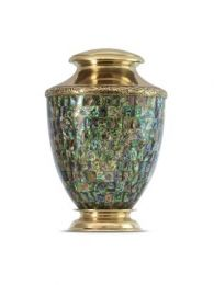 Dark Abalone Brass Urn 220 Cu. In.