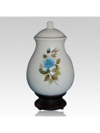 Serena Blue ceramic Cremation Urn