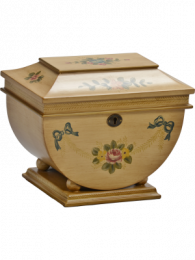 Delicate Victorian Floral Colonial Memory Box And Urn