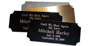 "Metal Rectangle Name Plate 3-1/2"" W x 1-1/2"" H"