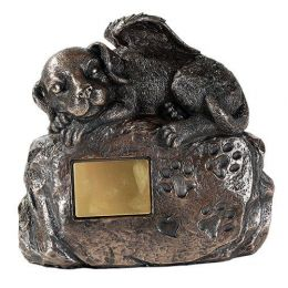 Dog Angel Metal Urn  Small Dog  45 Cu. In.