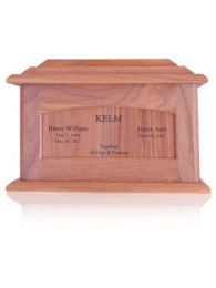 Oak Companion Wooden Urn  460 cu.in.