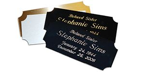 Metal Nameplate 3 Inches High x 1-1/4 Inches High In 4 Color In Choices
