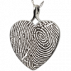 B & B Heart Fingerprint Jewelry