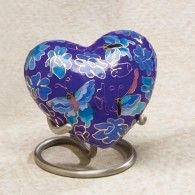 Brass Toned Wire Stand For Heart Shaped Keepsakes