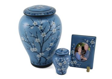 Blue 4 Piece Keepsake Set cremation Urns 10 cu.In. ea.