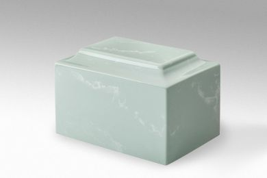 Light Green Classic Cultured Marble Over Sized Funeral  Cremation Urn