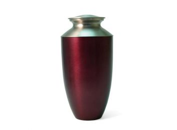 Red Alloy and brass Adult Urn