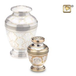 Ornate Floral Keepsake Cremation Urn 4 cu.in.