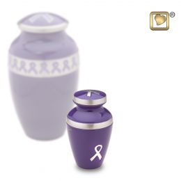Purple Awareness Keepsake Cremation Urn 3 cu.in.