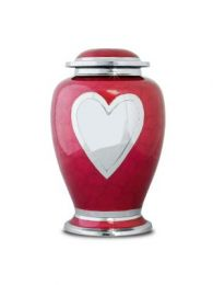 Red Heart Brass Urn Adult