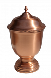 Copper Hand-Spun Pet Urn - Small 54 Cu In