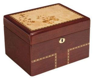 Burl Wood Treasure Chest Urn