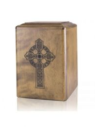 Celtic Cross Wooden Large Adult Cremation Urn 240 Cu.In