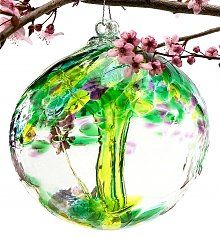 Fond Memories Ornamental Glass Orb With Tree