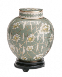 Pear Blossom Large Adult Cloisonne Cremation Urn
