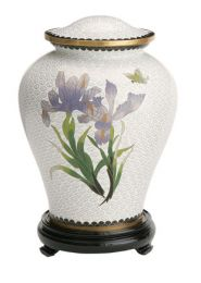 White Iris Companion Cremation Urn  410. cu. in.