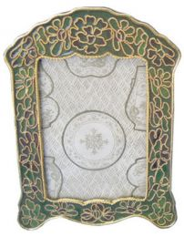 Cloisonne Forest Green Picture Frame for Matching Urn