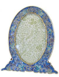 Cloisonne Azure Blue Picture Frame to Match Urn