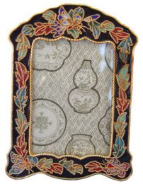 Cloisonne Butterfly Picture Frame to Matching Urn