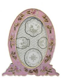 Cloisonne Dusty Rose Picture Frame for Matching Urn