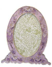 Cloisonne Purple Picture Frame to Matching Urn