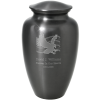 Slate And Pewter Butterfles Urn With Clip Art Options