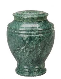 Green Earth Marble Urn Keepsake 55 Cu In