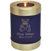 Blue Nightfall Candle Holder Memorial Candle