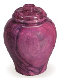 Red Garnet Marble Keepsake Urn 80 Cu In