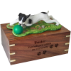 Pet Cremation Rosewood Urn Jack Russell Terrier Brown & White & Black & /White 2 Dogs