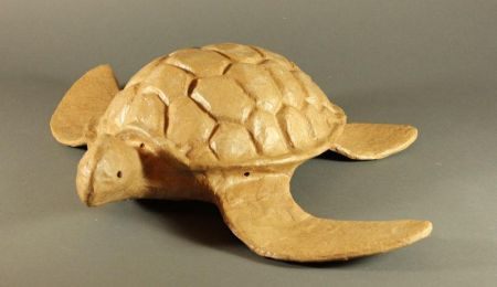 Natural Biodegradable Paper Turtle Urn, Hand Crafted Cremation  202 Cu. In. Urn