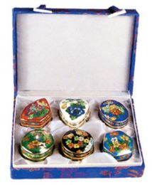 Assorted 6 Pieces Cloisonne Capsules Keepsake Urns