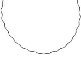 "Sterling Silver 16"" Wavy Chain with Clasp"
