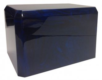 Navy Blue Cultured Marble Urn