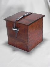 Wooden Urn With Hand Cast Fine Pewter - Side Brackets. #3