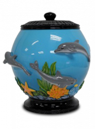 Fish Bowl Resin Adult Cremation Urn