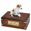 Pet Cremation Rosewood Urn Jack Russell Terrier-Sitting