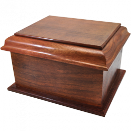 Stately Indian Rosewood  Wood Cremation Urn Extra Large
