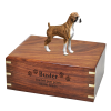 Dog Creation Wood Urn Boxer Brindle Uncropped  4 Sizes