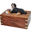 Pet Cremation Indian Rosewood Urn Bernese Mountain Dog-Laying