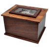 Photo Wood Dog Urn - Large
