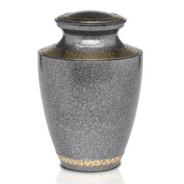 Speckled Black Brass Cremation Urn In Brass 200  & 3 Cu. In.
