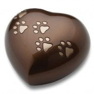 Bronze Love Heart Urn Pet Small      20 Cu. In.